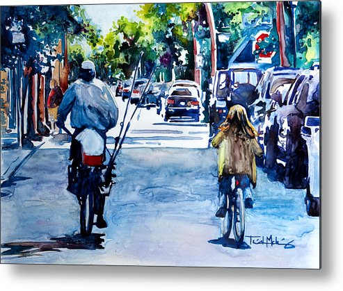 Charleston Metal Print featuring the painting Quality Time by Trish McKinney