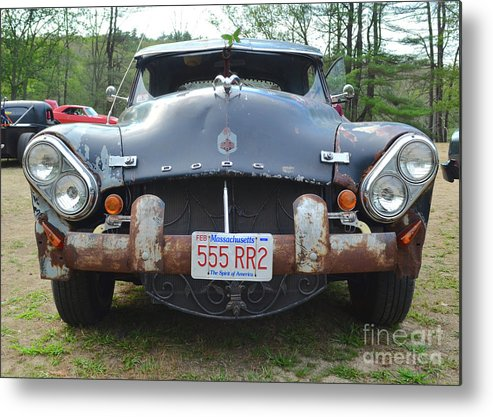 Cars Metal Print featuring the photograph Rat Rods - 1952 Dodge Front End by Jason Freedman