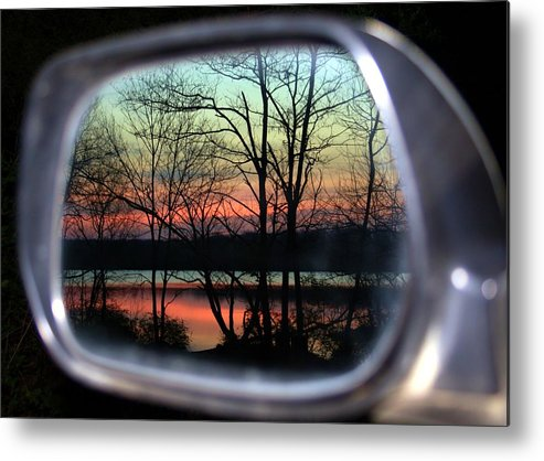 Rearview Mirror Metal Print featuring the photograph Rearview Mirror by Mitch Cat