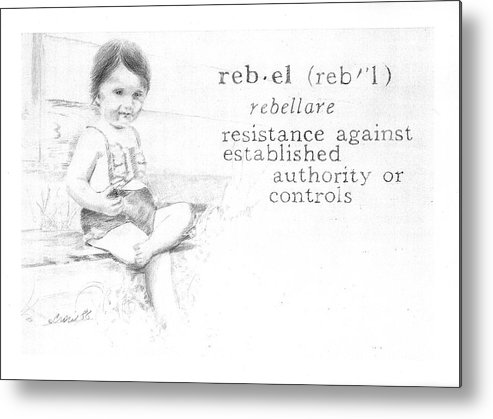 Kids Metal Print featuring the painting Rebel by Janice Crow