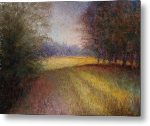 Lanscape Metal Print featuring the painting Romance Trail by Susan Jenkins