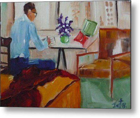 Room Metal Print featuring the painting Room With A View by Irit Bourla