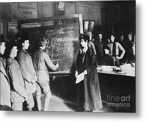 1917 Metal Print featuring the photograph Russia: Students, 1917 by Granger