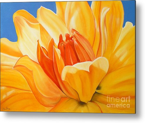 Floral Metal Print featuring the painting Saffron Splendour by Colleen Brown