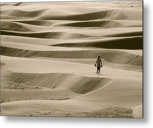 Scenic Metal Print featuring the photograph Sand Walker by Mark Lemon
