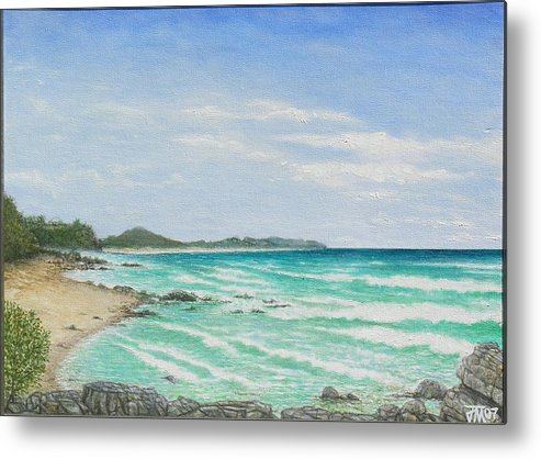 Seascape Metal Print featuring the painting Second Bay Coolum Beach by Joe Michelli
