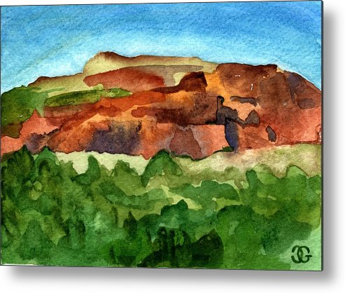 Landscape Metal Print featuring the painting Sedona Landscape by Cindy Glazier