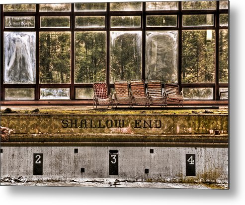 Abandoned Metal Print featuring the photograph Shallow End by Evelina Kremsdorf