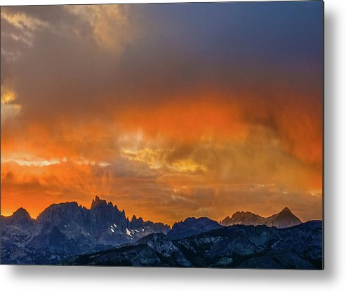 Minarets Metal Print featuring the photograph Sierra Sunset by Tom and Pat Cory