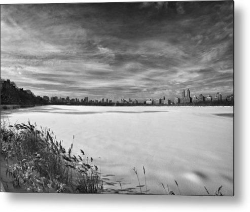 Snow Metal Print featuring the photograph Snow Storm 2 Panorama by Robert Ullmann