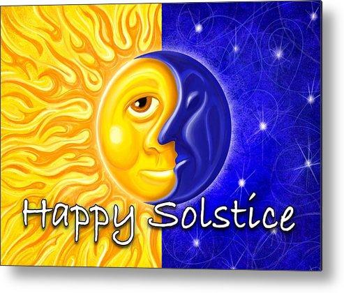 Solstice Metal Print featuring the digital art Solstice by David Kyte