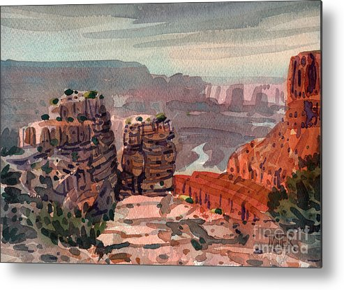 South Rim Metal Print featuring the painting South Rim by Donald Maier