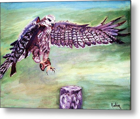 Osprey Metal Print featuring the painting Spread Your Wings by Robin Monroe