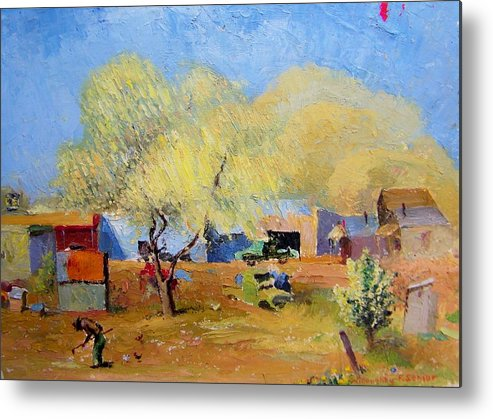 Spring Metal Print featuring the painting Spring Is For Everyone by Willoughby Senior