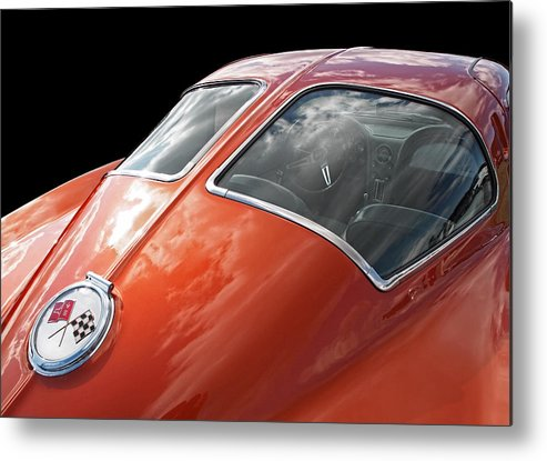 Corvette Stingray Metal Print featuring the photograph Stingray Split Window 1963 by Gill Billington
