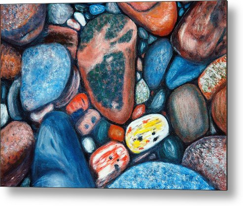 Rocks Metal Print featuring the painting Superior View by Patricia Ortman
