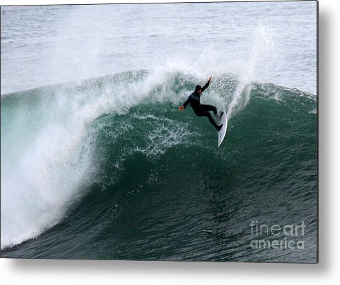 Surf Metal Print featuring the photograph Surf's Up V by Chuck Kuhn