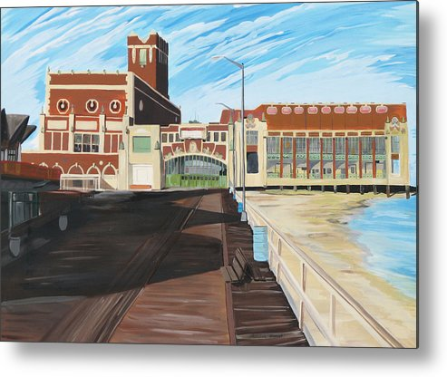 Asbury Art Metal Print featuring the painting The Convention Hall Asbury Park by Patricia Arroyo