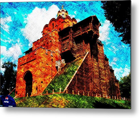 Kiev Metal Print featuring the painting The Great Gate At Kiev by Don Barrett