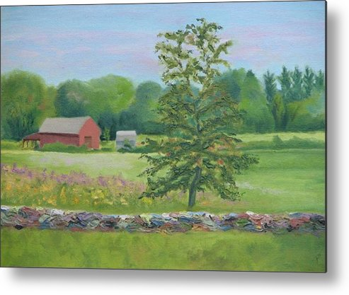 Landscape Metal Print featuring the painting The King's Grant by Paula Emery