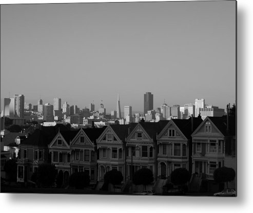 Architecture Metal Print featuring the photograph The Painted Ladies by Sonja Anderson