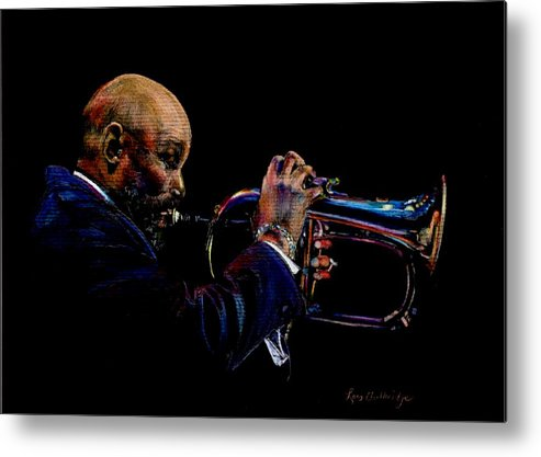 Colored Pencil Metal Print featuring the drawing The Player by Lois Guthridge