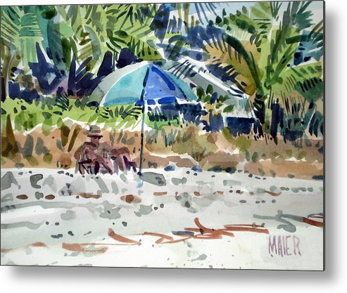 Sunbathing Metal Print featuring the painting The Sun Bather by Donald Maier