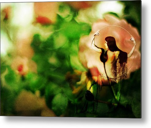Fairy Metal Print featuring the photograph The Wind Around Her Shoulders by Rebecca Sherman