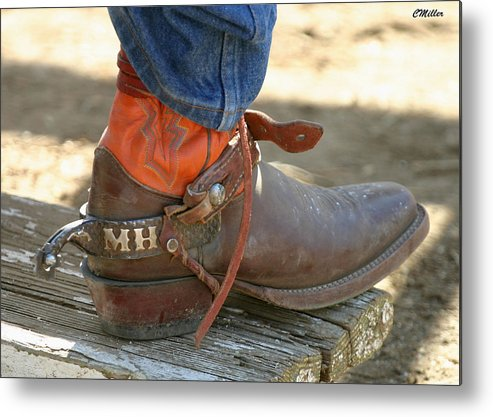 Rodeo Metal Print featuring the photograph These Belong To Marv.. by Carol Miller
