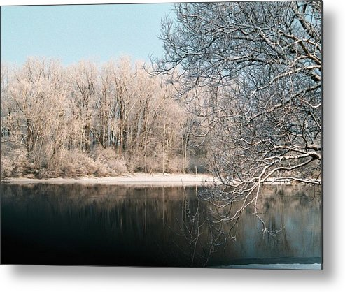 Snow Metal Print featuring the photograph Touch Of Snow by Jennifer Englehardt