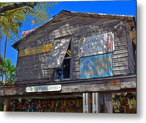 Architecture Metal Print featuring the photograph Tropical Shop by Maria Keady