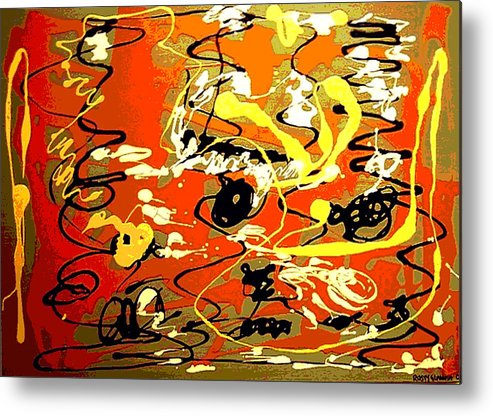 Abstract Metal Print featuring the painting Twister by Rusty Gladdish