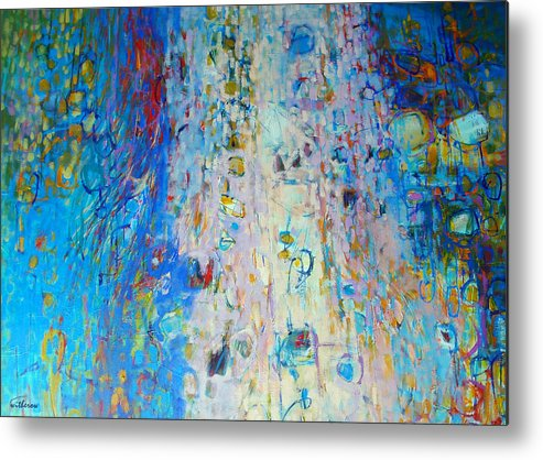 Abstract Metal Print featuring the painting Uplifted by Dale Witherow