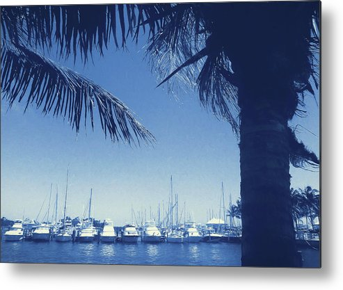 Vintage Metal Print featuring the photograph Vintage Miami by JAMART Photography