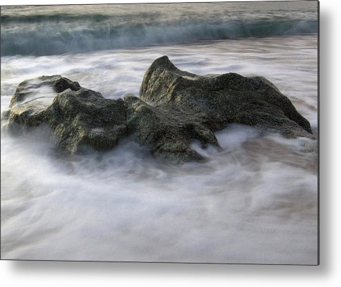 Movement Metal Print featuring the photograph Water And Rocks by Cliff Norton