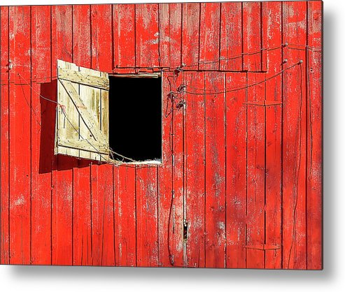 Barn Door Metal Print featuring the photograph Barn Door Open by Todd Klassy