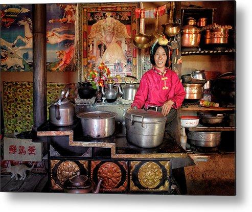 Tibet Metal Print featuring the photograph My Golden Kitchen by Nicolas Marino