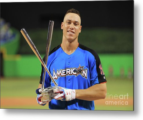People Metal Print featuring the photograph Aaron Judge by Mike Ehrmann