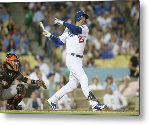 People Metal Print featuring the photograph Adrian Gonzalez by Stephen Dunn