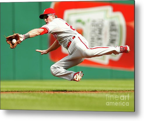 Second Inning Metal Print featuring the photograph Chase Utley by Jared Wickerham