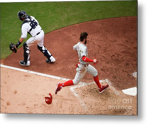 People Metal Print featuring the photograph Bryce Harper by Denis Poroy