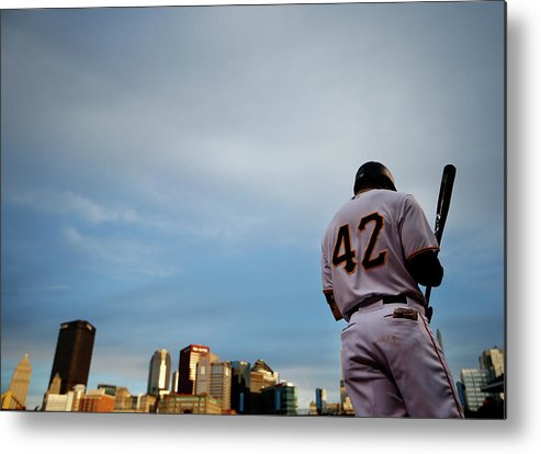 Second Inning Metal Print featuring the photograph Jackie Robinson by Jared Wickerham