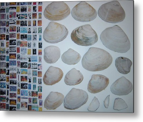 Metal Print featuring the painting Images And Shells by Biagio Civale