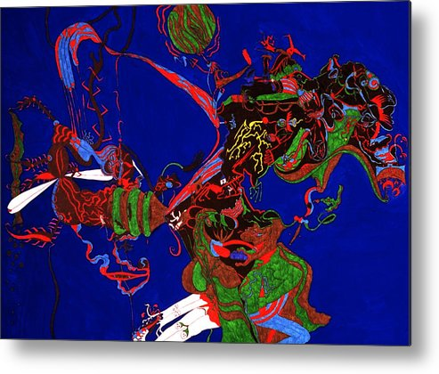 Abstract Metal Print featuring the print Intoxication by William Watson
