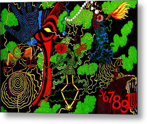 Abstract Metal Print featuring the print Obsession by William Watson