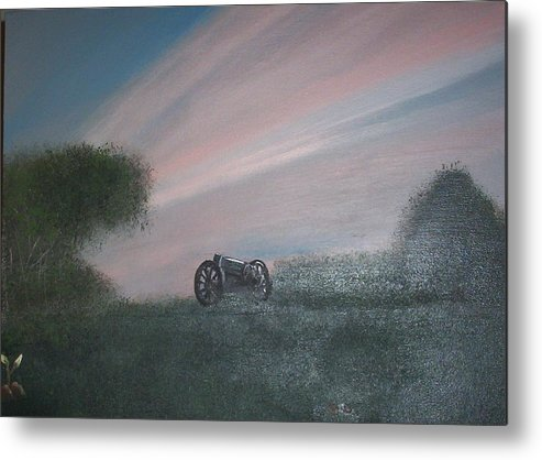 Sunset Metal Print featuring the painting Sunset Canon by Rana Adamchick