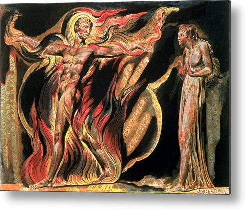 Illuminated Book Metal Print featuring the painting Jerusalem The Emanation Of The Giant Albion by William Blake