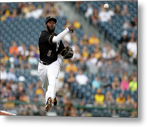 People Metal Print featuring the photograph Miami Marlins V Pittsburgh Pirates 2 by Justin K. Aller