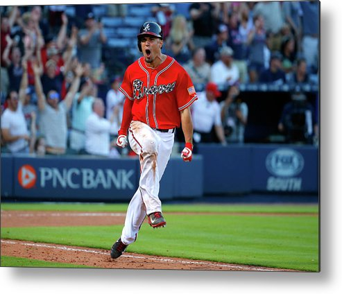 Atlanta Metal Print featuring the photograph Milwaukee Brewers V Atlanta Braves 5 by Kevin C. Cox