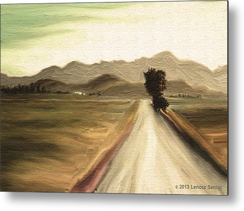 Abstract Metal Print featuring the mixed media A Classic Landscape by Lenore Senior